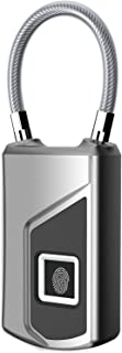 TOUCHING 南京錠 タッチロック 指紋ロック 指紋認証 スマートロック三色ライト IP65 防水 盗難防止 アンロック 戸口/ドア/荷物ケースロック