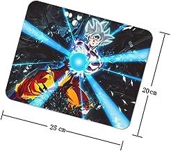 Game Mouse Pad Office Mouse Pad Gaming Surface Mouse Non Slip Mat,Square Mouse Pad,Dragon Ball Super Saiyan Goku Ultra Instinct Ka Me Ha Me Ha,8x10 inches