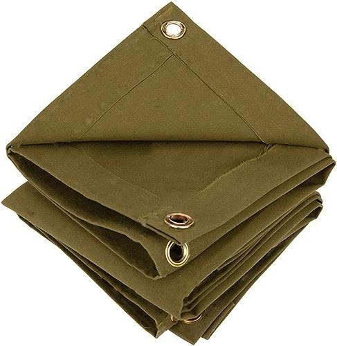 Qualité Premium Tissu Oxford Imperméable Bache Avable Résistante Aux UV Ripstop Tarp Couverture De Bateau Housse Table De Jardin Olive (Taille   3m3m)