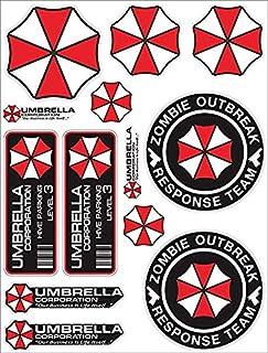 Umbrella Corporation Set Resident Evil Zombie The Walking Dead Sticker Decal Pegatinas Aufkleber/Plus Coconut Shell Keycha...