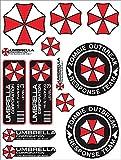 A4 Umbrella Corporation Set Zombie Sticker Decal Pegatinas Raccoon City Car Truck Bumper Bike Helmet Notebook