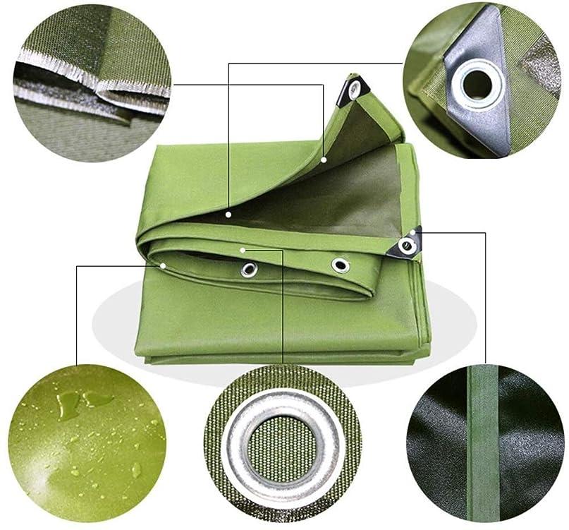 売り手あいにく人気のAMAZACERターポリン防水ヘビーデューティ錫メッキボタンホールファミリーアウトドアトラック、13サイズ(カラー:グリーン、サイズ:3X5m) (Color : Green, Size : 5x5m)