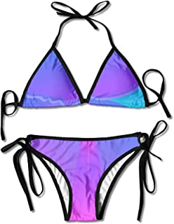 OYOOKO Unique Virtual Reality 3D Virtual Padded Top Bottom Bikini Swiming Suit Two Piece Suits