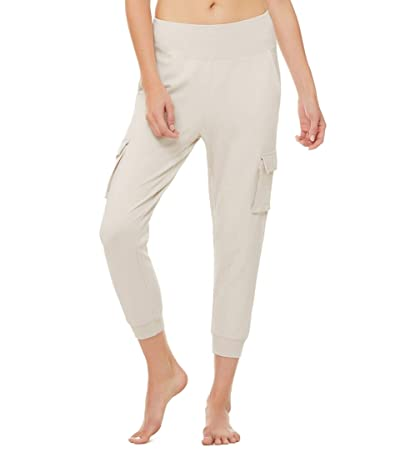 ALO 7/8 High-Waist Cargo Sweatpants (Bone) Women