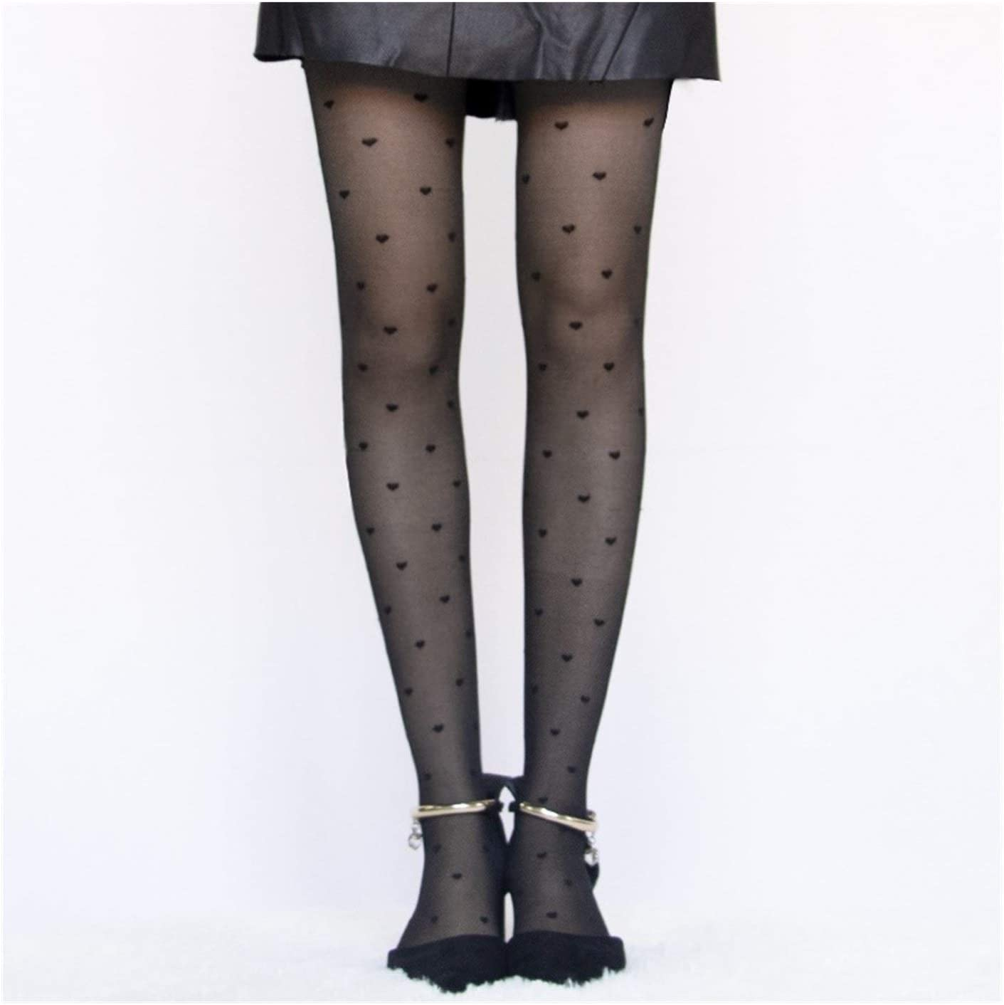 Moonlight Star Style Dot Patterned Women Pantyhose Fashion Sweet Girl Black Sexy Tights Female Stocking Transparent Silk Tights (Color : Style C, Size : One Size)