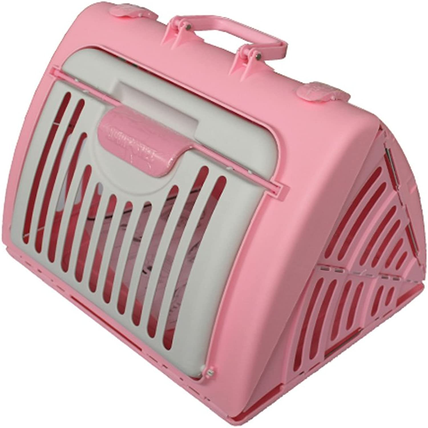 Pet Travel Bag Travel Portable Pet Carrier Folding Outdoor Picnic Hiking Comfortable Breathable Pet Cage Pet Car Seat Pet Booster Seat Pink(45cmx35cmx33cm)