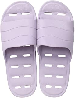 Comfortable/beautiful sandals and slippers Massage slippers women summer blowing bathroom slippers couple household flip-flops hollow sandals men's hotel slippers (Color : Purple)