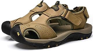 马爷子 男士沙滩鞋 头层牛皮凉鞋 防滑橡胶+减震MD中底 欧美风沙滩鞋 多款可选减震EVA 恐龙洞洞鞋 PB50-7238-X