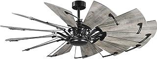 Progress Lighting P250000-31M Springer Ceiling Fans, 60 in, Matte Black