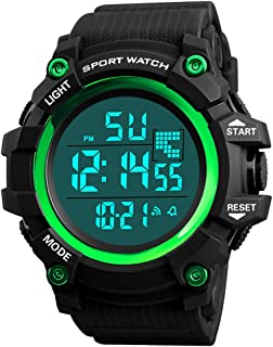 Watches for Men Hessimy Men's Digital Sports Watch LED Screen Large Face Military Watches and Waterproof Casual Luminous Electronics Watch Back Light Outdoor Simple Army Wrist Watch