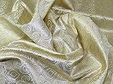 Minerva Crafts Brokat-Stoff, gewebt, metallisch,
