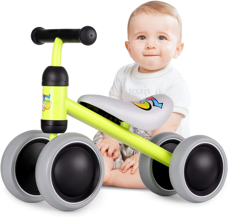 Hadwin Kinder Laufrad Lauflernrad mit 4 R/äder f/ür 18-36 Monate Spielzeug Baby Geschenk f/ür Jungen M/ädchen