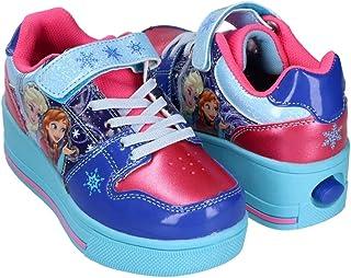 Fantasy Kids Tenis Patin de Moda para niña, Frozen, Mod. 62183, Deslizate como Elsa en la Nieve Talla 21
