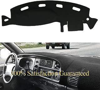 Yiz Dashboard Cover Dash Cover Mat Pad Custom Fit for Dodge Ram 1500 2500 3500 1998 1999 2000 2001 (Ram 98-01, Black)