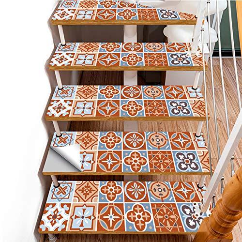 SQINAA Pegatinas 3D para escaleras, Autoadhesivas, extraíbles, Impermeables, para baldosas de escaleras, Pegatinas para Sala de Estar, Cocina, Dormitorio, decoración del hogar (9,8 x 39,3 Pulgadas),C