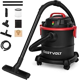 Eastvolt Wet Dry Vacuum Cleaner, 5 Gallon 5.5 Peak HP 3 in 1 Blower, Hepa Filtration Dry Wet Suction for Home, Garage, Vehicle, Workshop (K-411F)
