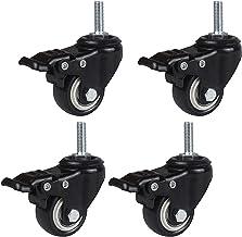 4 stks Meubelwielen Wielen Trolley Vervanging Swivel Casters Heavy Duty Double Lager Castor Polyurethaan Moving Wheels, M1...
