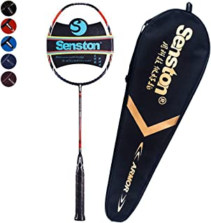 Senston Professional Woven Badminton Racket 100% Full Carbon High-Grade Badminton Racquet Including Racket Cover