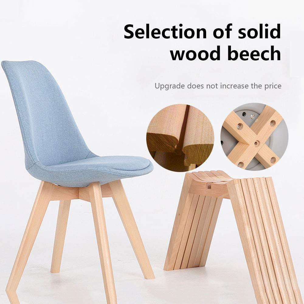LXMT Assise Facile de Chaise Minimaliste Moderne de Chaise de Tissu de Loisirs de Dossier à la Maison en Bois Solide de Cadre Solide et de Jambe en Bois,Col8 Col1