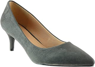 db2b5c2976e5f2 Angkorly - Chaussure Mode Escarpin Stiletto decolleté Femme Talon Haut  Aiguille 6 CM