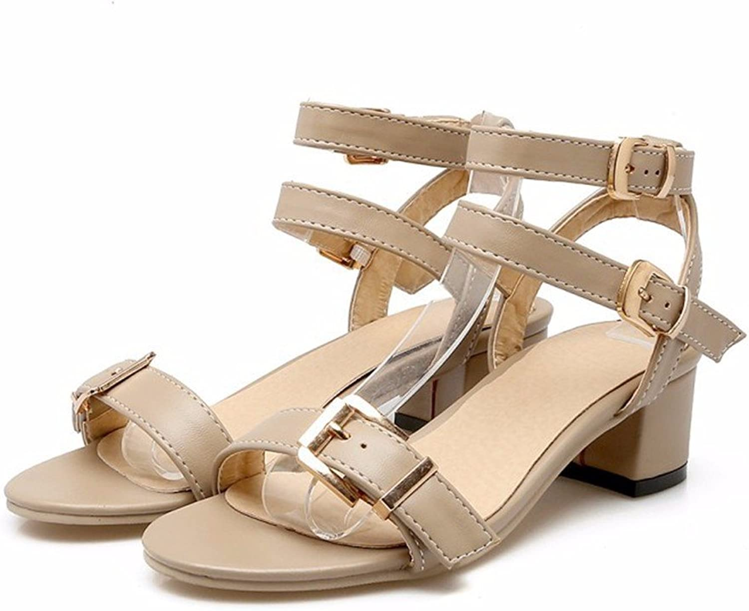 With the large number in sandals ladies sandals buckle sandals with large numbers.-YU&XIN