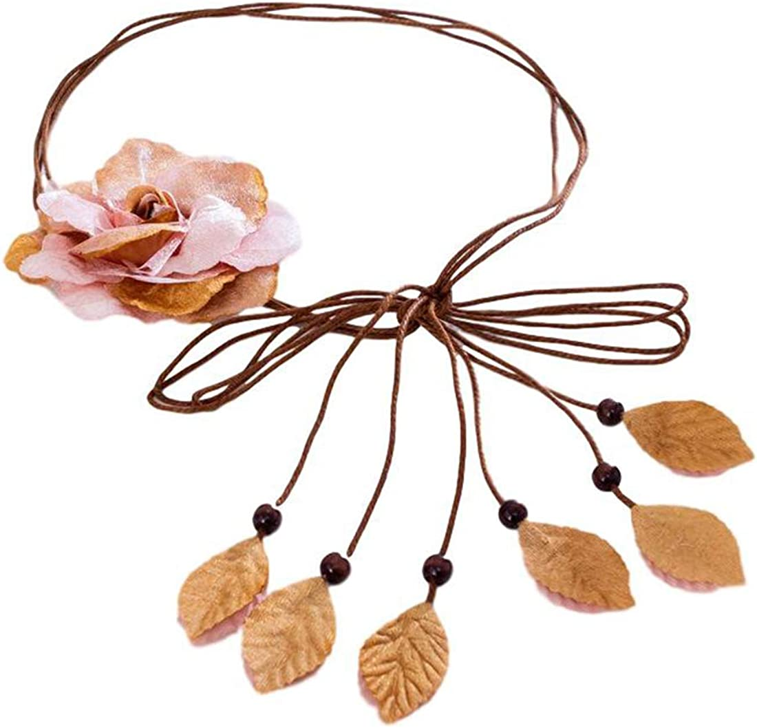 Idopy Women`s Bohemia Wedding Our shop most popular Floral For Flower Artificial Fees free!! Belt