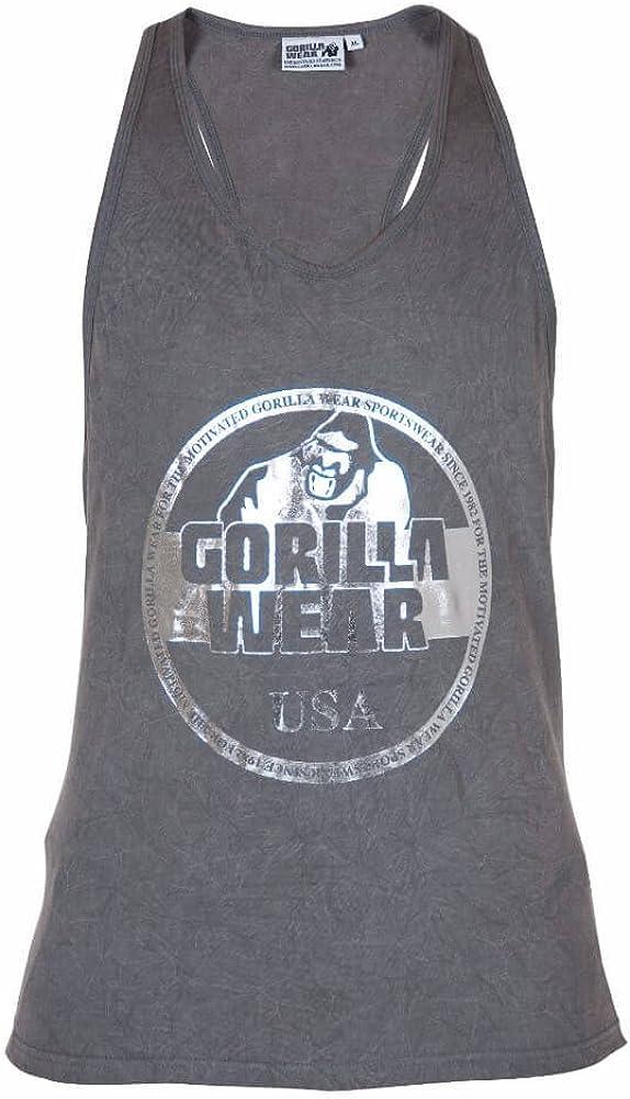 Bodybuilding und Fitness Kleidung f/ür Herren grau GORILLA WEAR Mill Valley Tank Top