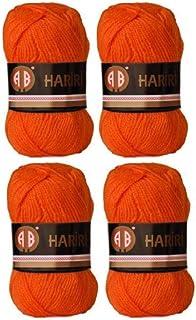 AB Hariri Crochet and Knitting Yarn, Great for DIY projects (Orange Set of 4)