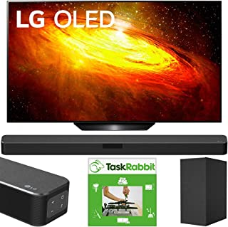 LG OLED55BXPUA 55-inch BX 4K Smart OLED TV with AI ThinQ (2020 Model) Bundle SN5Y 2.1 Channel Hi-Res Audio Sound Bar with ...