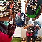 PETEMOO Pet Sling Carrier Bag, Hand-Free Dog Cat Outdoor Travel Shoulder Bag with Adjustable Strap& Zipper 12