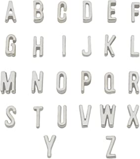 YYaaloa 26 Alphabet Letter Charms (4 Set / 104pcs) DIY Charms Pendant for Crafting, Jewelry Making Accessory (Alphabet Letter 104pcs Silver)