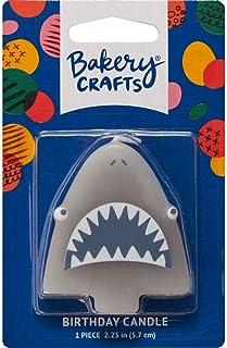 DecoPac Shark Shaped Birthday Cake Candle