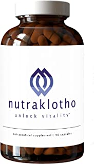Nutraklotho Klotho Supplement 30-Day Supply Custom Formulated Nutraceutical with Resveratrol to Naturally Enhance Klotho P...