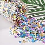 10 g / paquete mezcla de lentejuelas de uñas de colores macarrones para manualidades brillantes estrellas corazón Sakura lentejuelas Paillettes DIY manicura decoración de uñas-7mm flor