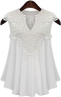 White V Neck Blouse For Women