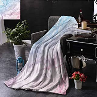 SSKJTC Marble Small Throw Blanket Double-Sided Printing Pastel Cloudy Antique Dorm Bed Baby Cot Traveling Picnic W60 xL50