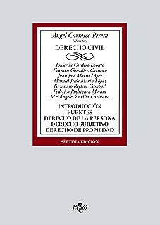 Derecho Civil: Introducción. Fuentes. Derecho de la persona. Derecho subjetivo. Derecho de propiedad