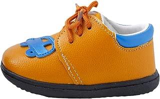 Hopscotch Baby Boys PU Car Applique Lace UP Slip Ons - Multi