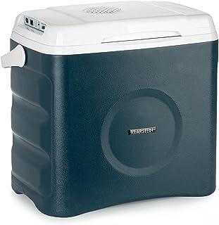 Klarstein BeerBelly 29 Elektrische Kühlbox - 29 L, 3 Anschlüsse: 230V, 12V Anschluss für Zigarettenanzünder & USB-Anschluss, Tragbar, Kühl- und Warmhaltefunktion, Auto, LKW, Camping, Steckdose, blau