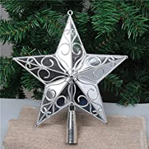 JWAKSJ PF Christmas Tree Topper Star Plastic Christmas Star Tree Topper for Christmas Table Decor Colorful Craft Xmas DIY Accessories