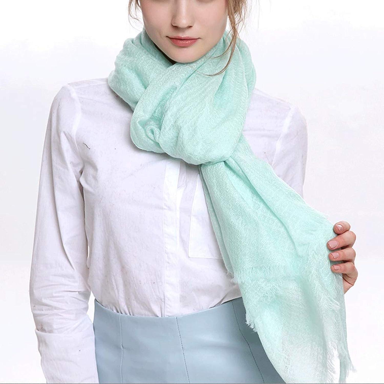 CHX Scarf 200cm×70cm Woman Thin Section Soft Fluffy Shawl Gift Box V (color   Light Green)