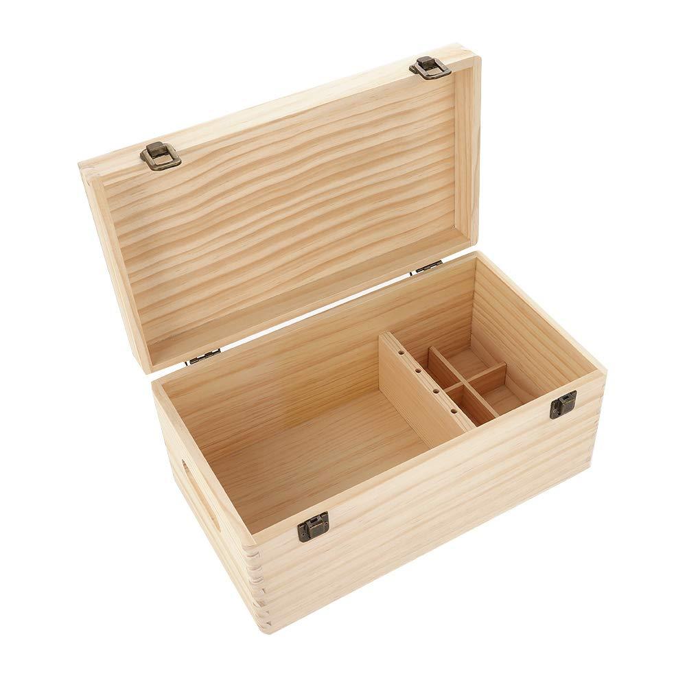 Caja de almacenamiento de aceites esenciales, nuevo y hermoso contenedor de caja de almacenamiento de aceite esencial de madera de doble capa grande, caja de almacenamiento de aceites esenciales: Amazon.es: Hogar