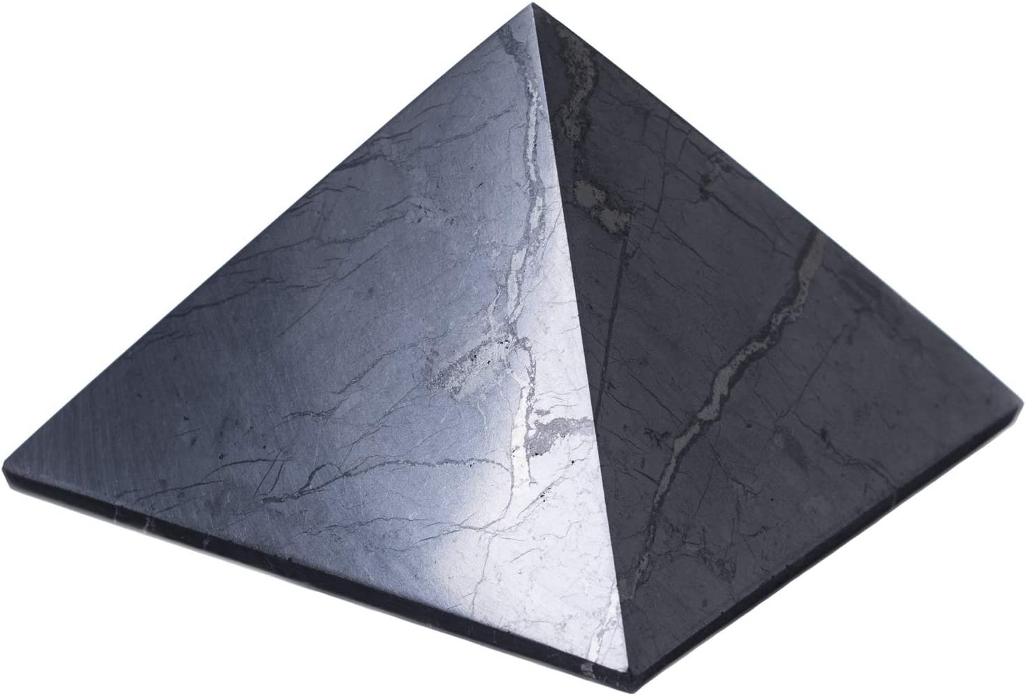 Keled Rocks Shungite Challenge the lowest price of Japan ☆ unisex Pyramid 4