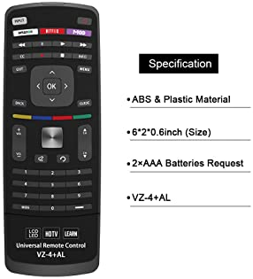 Gvirtue Universal Remote Control Compatible Replacement for Vizio E Series TV/M Series TV/HDTV/LCD/LED (with Keyboard)