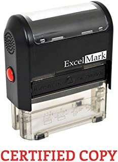 Certified Copy Self Inking Rubber Stamp - Red Ink (ExcelMark A1539)