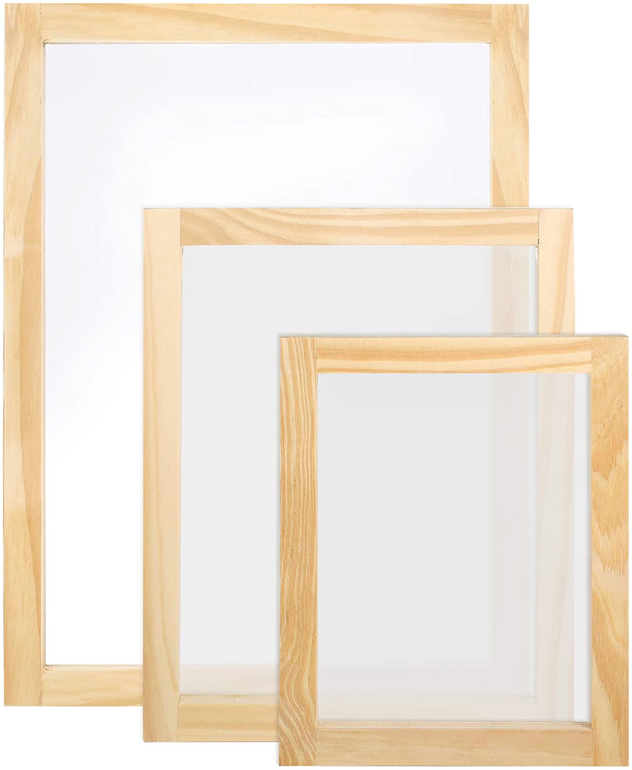 Caydo 3 Pieces Size Wood Silk Very popular! Beauty products Screen with Frame Printing Mesh