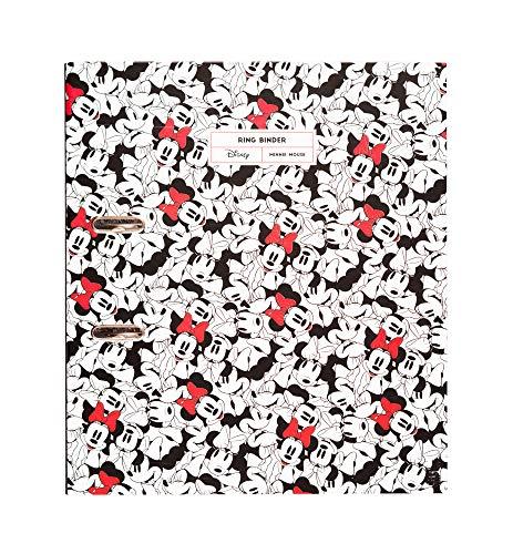 Grupo Erik Aktenordner Disney Minnie Mouse Rocks the Dots - Ringbuchordner/Ordner mit Hebelmechanik
