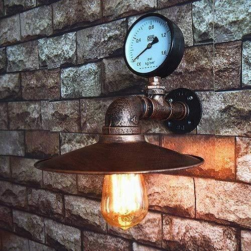 Hoge kwaliteit Lamp Wandkandelaars Wandlamp Vintage smeedijzeren Muur Light Simple Restaurant Cafe Basement Bar Decoratie smeedijzeren wandkandelaar Retro Steampunk Muur Lantern E27 armatuur