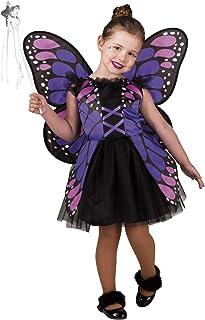 Costume CARNEVALE FARFALLA fata principessa abito Lillà 98-128 NUOVO