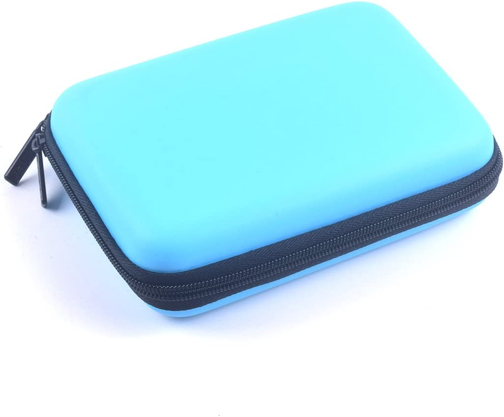 Mini Projector Travel Carrying Case for Pico DLP LED Pocket Projector and Accessories Organizer Multifunction - Blue